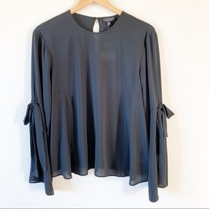 TOPSHOP NWT✨ Black Long Sleeved Blouse 12